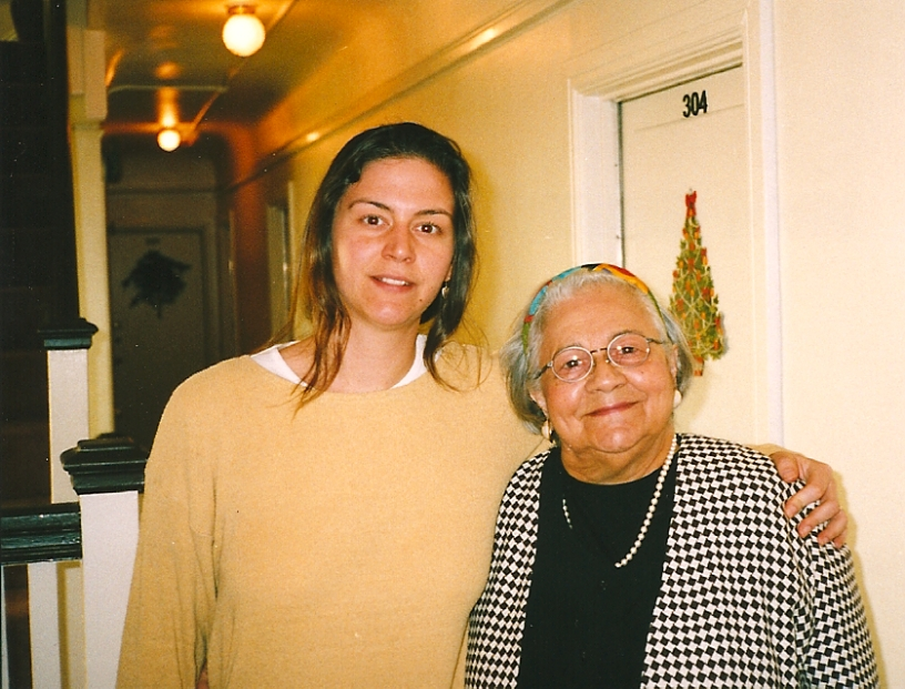 The author and her grandmother 1998