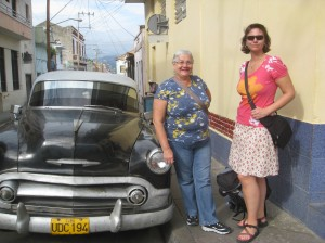 Author and her mother in Cuba