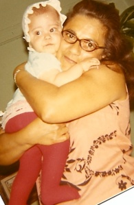 Warm embrace from my Abuela - circa a long time ago.