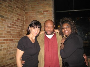 The author with her childhood friends Khal and Regina, Dec. 2010.