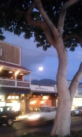 Moon rising over Lahaina