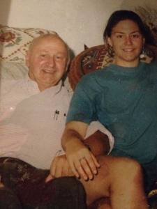 Author with dad circa 1994.