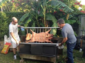 Turning the pig.