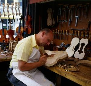 My dad, master violin maker!