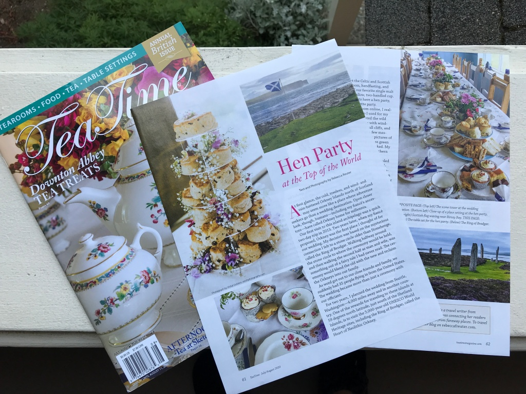 Tea Time July 2020 with copy for article Hen Party at the Top of the World